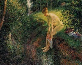 Pissarro | Bather in the Woods | Giclée Canvas Print