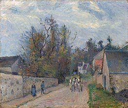 Pissarro | Diligence on the Road from Ennery to l'Hermitage | Giclée Canvas Print