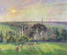 Pissarro | The Church and Farm of Eragny | Giclée Canvas Print