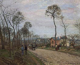 Pissarro | The Road from Louveciennes | Giclée Canvas Print