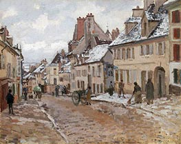 Pissarro | Pontoise, the Road to Gisors in Winter, 1873 | Giclée Canvas Print