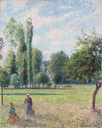 Pissarro | Two Peasant Women in a Meadow, 1893 | Giclée Canvas Print