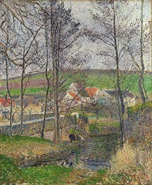 Pissarro | The Banks of the Viosne at Osny in Grey Weather, Winter, 1883 | Giclée Canvas Print