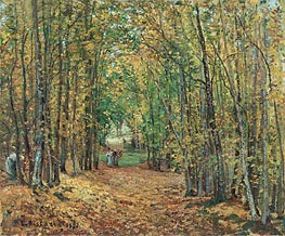Pissarro | The Woods at Marly, 1871 | Giclée Canvas Print