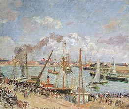 Pissarro | The Port of Le Havre, Afternoon, Sun, 1903 | Giclée Canvas Print