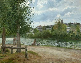 Pissarro | The Banks of the Oise at Pontoise, 1870 | Giclée Canvas Print