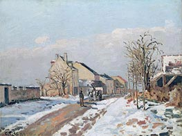 Pissarro | The Road from Gisors to Pontoise, Snow Effect, 1872 | Giclée Canvas Print