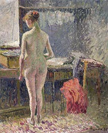 Pissarro | Female Nude Seen from the Back, 1895 | Giclée Canvas Print