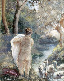 Pissarro | Nude with Swans, c.1895 | Giclée Paper Print