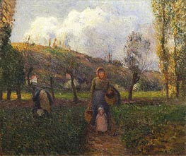 Pissarro | The Return from the Fields, 1883 | Giclée Canvas Print