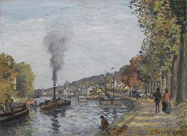 Pissarro | The Seine at Bougival | Giclée Canvas Print