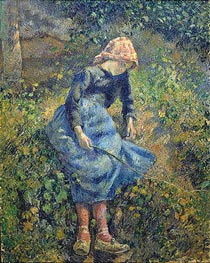 Pissarro | Girl with a Stick | Giclée Canvas Print