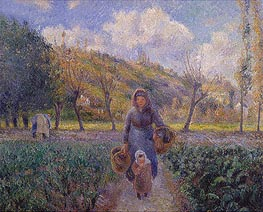 Pissarro | In the Vegetable Garden | Giclée Canvas Print