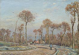 Pissarro | The Road to Versailles, Louveciennes, Morning Frost , 1871 | Giclée Canvas Print