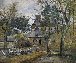 Pissarro | Farm at Montfoucault | Giclée Canvas Print