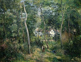 Pissarro | Edge of the Woods Near L'Hermitage, Pontoise, 1879 | Giclée Canvas Print
