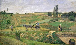 Pissarro | Road to Ennery, 1874 | Giclée Canvas Print