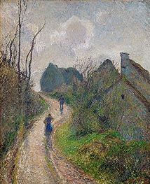 Pissarro | Road Climbing to Osny | Giclée Canvas Print