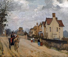 Pissarro | Street in Upper Norwood, 1871 | Giclée Canvas Print