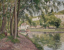 Pissarro | Moret, the Loing Canal (The Towpath at Saint-Mammes) | Giclée Canvas Print