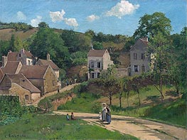 Pissarro | The Hermitage at Pontoise | Giclée Canvas Print