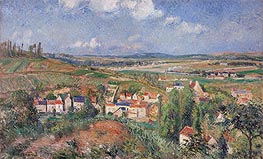 Pissarro | The Hermitage in Summer, Pontoise, 1877 | Giclée Canvas Print