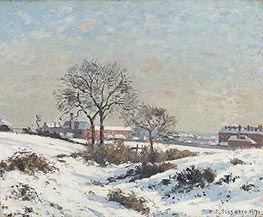 Pissarro | Snowy Landscape at South Norwood | Giclée Canvas Print