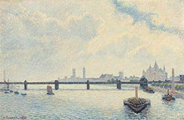 Pissarro | Charing Cross Bridge, London | Giclée Canvas Print