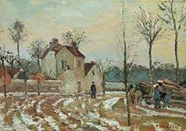 Pissarro   The Thaw or The House of Monsieur Musy, Louveciennes, 1872   Giclée Canvas Print