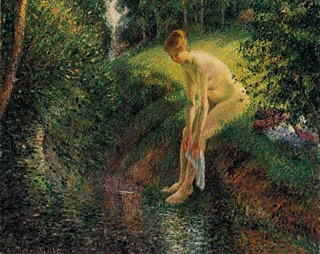 Bather in the Woods, 1895   Pissarro   Painting Reproduction