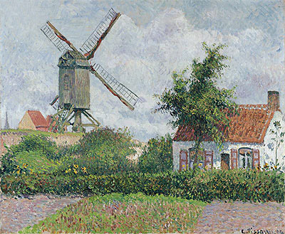 Windmill at Knocke, 1894 | Pissarro | Giclée Canvas Print