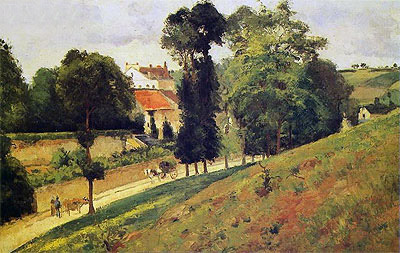 The Saint-Antoine Road at l'Hermitage, Pontoise, 1875 | Pissarro | Painting Reproduction