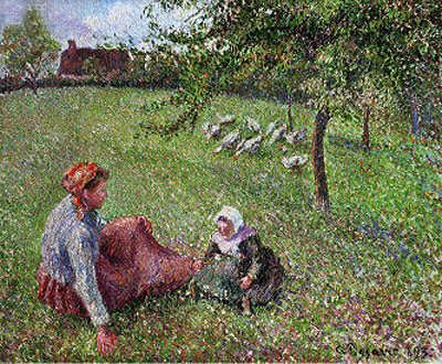 The Geese Pasture, 1893 | Pissarro | Giclée Canvas Print