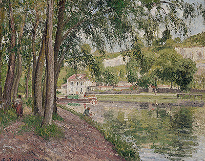 Moret, the Loing Canal (The Towpath at Saint-Mammes), 1902 | Pissarro | Giclée Canvas Print