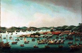 Cantonese School | Hong Kong Harbour, undated | Giclée Canvas Print