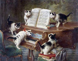 Carl Reichert | The Kittens' Recital, 1908 | Giclée Canvas Print