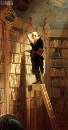 Carl Spitzweg | The Book Worm, Undated | Giclée Canvas Print