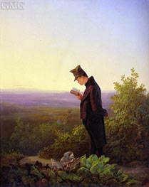 Carl Spitzweg | Reading the Breviary, The Evening, c.1845 | Giclée Canvas Print