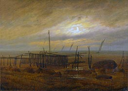 Caspar David Friedrich | Seashore by Moonlight | Giclée Canvas Print