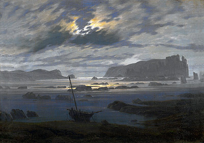 Northern Sea by Moonlight, undated | Caspar David Friedrich | Painting Reproduction