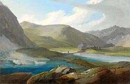 Caspar Wolf | The Gotthardpasshohe with the Three Lakes and the Refuge | Giclée Canvas Print