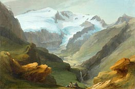 Caspar Wolf | Look at the Lauenen Valley with Geltengletscher and Geltenhorn | Giclée Canvas Print