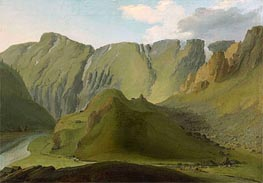 Caspar Wolf | Rhone near Gletsch with Gadmerfluh, Tellistock and Wendenstock | Giclée Canvas Print