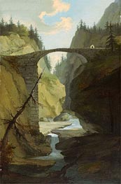 Caspar Wolf | Bridge over the Muota near Schwyz | Giclée Canvas Print