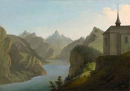 Caspar Wolf | View from Mount Seelis to Lake Uri towards Altdorf | Giclée Canvas Print