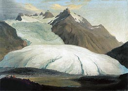 Caspar Wolf | The Rhone Glacier Seen from the Valley at Gletsch | Giclée Canvas Print