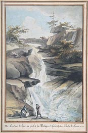 Caspar Wolf | A Bridge on the Aar, at the Foot of the Grimsel, in the Canton of Berne, c.1775 | Giclée Paper Print