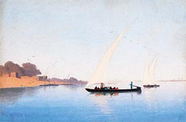 Charles-Theodore Frere | Boats on the Nile | Giclée Canvas Print