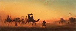 Charles-Theodore Frere | Caravan at Sunset | Giclée Canvas Print