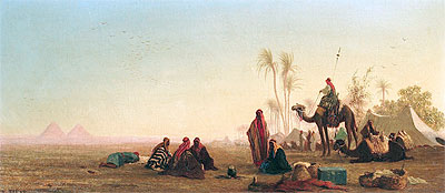Halt at an Oasis, Undated | Charles-Theodore Frere | Giclée Canvas Print